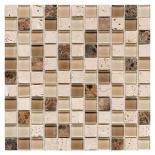 Стъклено-каменна мозайка беж