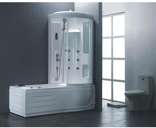 Хидромасажна душ кабина с вана, лява