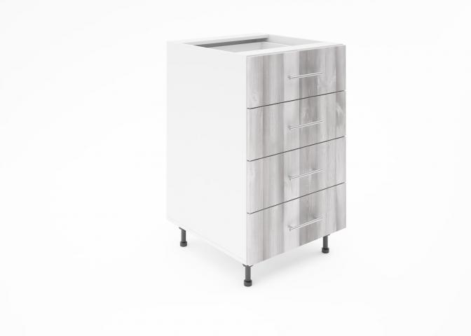 Крафт D4 долен шкаф с четири чекмеджета 50см, дъб пикардия