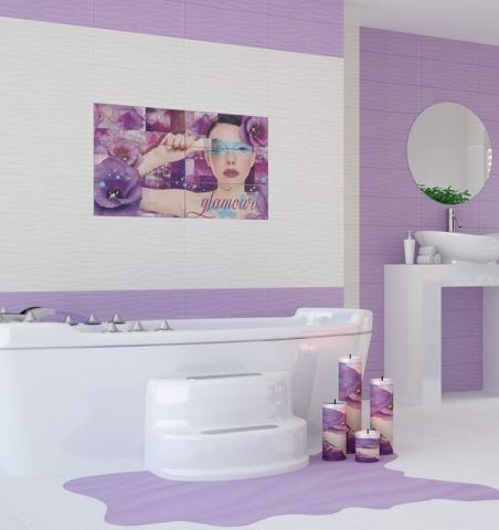 Декор Marina Glamour Violet 3