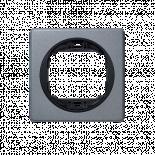 Рамка единична сребро антик 80х80 EON