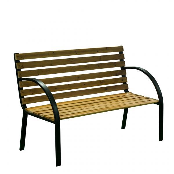 Градинска дървена пейка 122х60х80 см