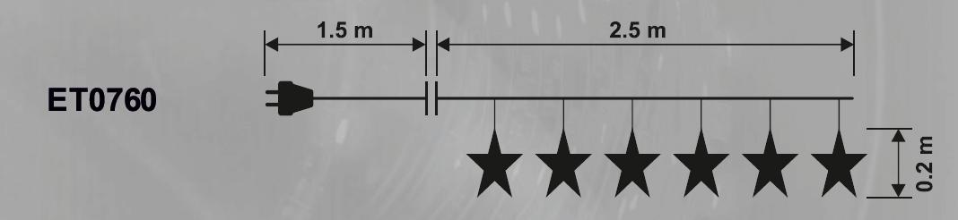 Светещ гирлянд 'Падащи звезди' 2