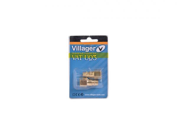 """Накрайник пневм. за бърза връзка 3/8"""" Villager VAT UQ3"""