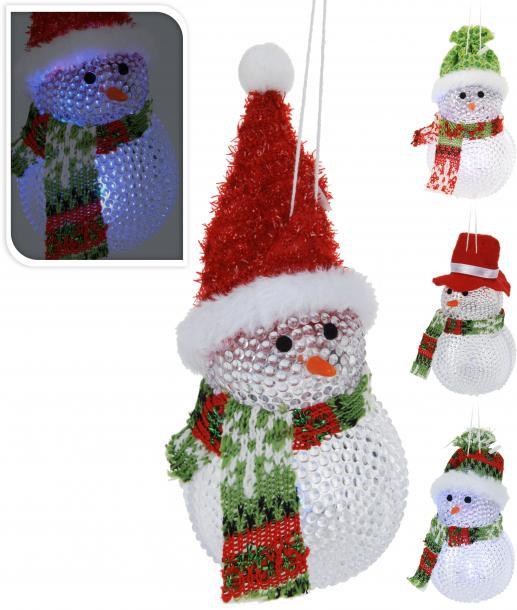 Коледна висулка 'Снежен човек' с LED-светлина