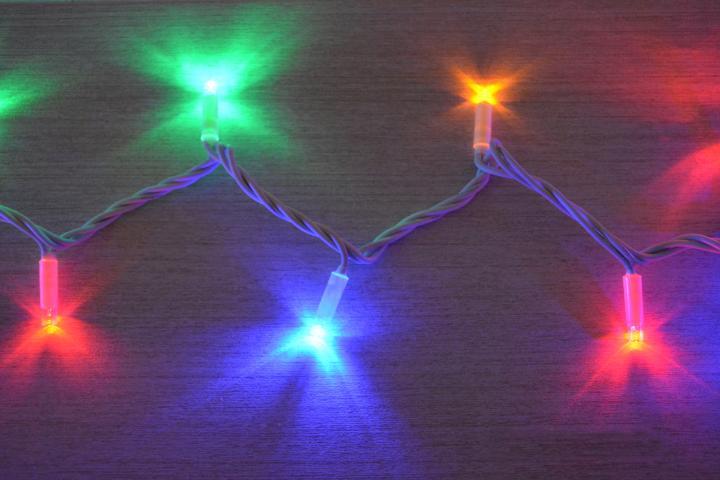 Светещ гирлянд 100LED разноцветни OUT