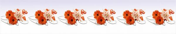 Принт гръб с цветя, код 013