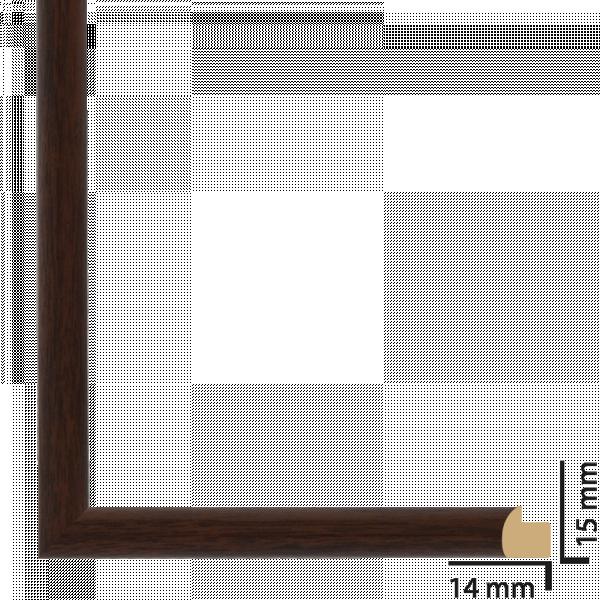 Рамка ПВЦ 10х15 см кафяво