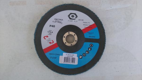 Абразивен ламелен диск 180х22мм P40