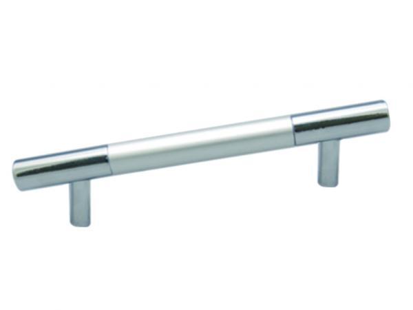 Дръжка мебелна алуминиева надлъжна 128мм мат хром