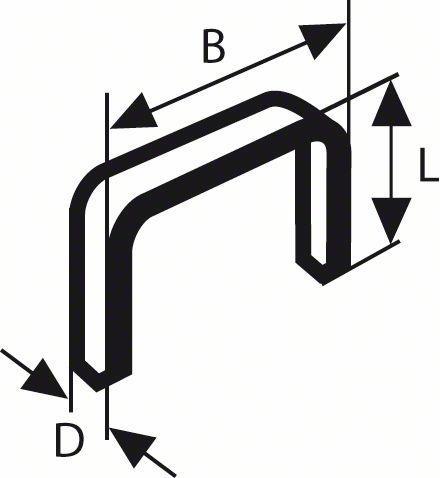 Скоби за такер 11.4/6 мм BOSCH
