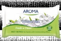 Мокри кърпички Aroma Fresh&Clean White Tea