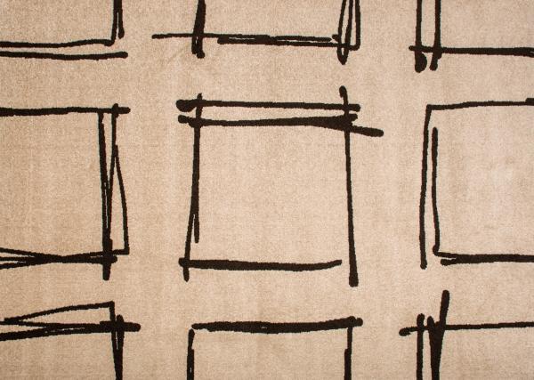 Килим Cosi слонова кост с тъмни квадрати 1.2х1.7 см