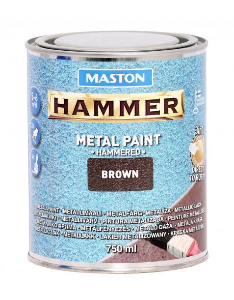 Боя с хамър ефект Maston 3в1 0.75л, кафява