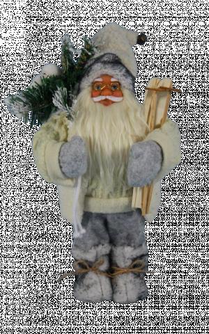 Фигура Дядо Коледа 30см, бял