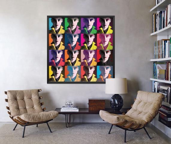 Картина с дървена рамка Premium ''Шарена'' 2