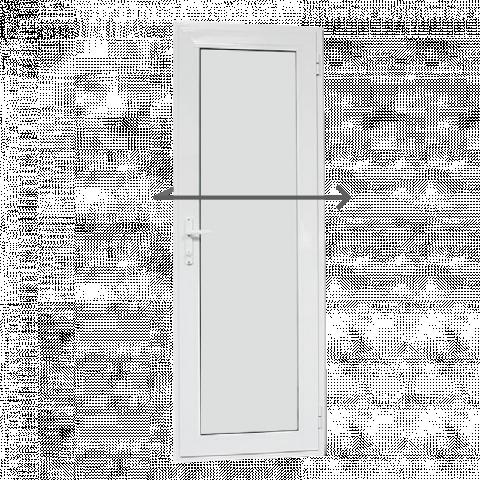 Алуминиева врата за баня 69/200см дясна Ал профил
