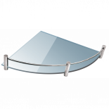 Стъклена полица 20х20 см