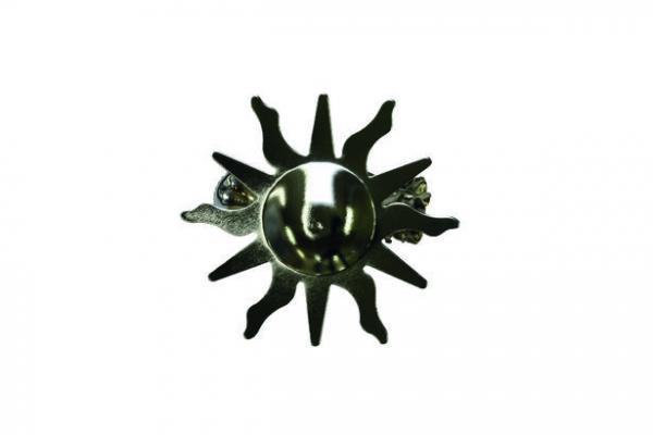 Аксесоар декоративен кламер Слънце хром