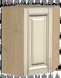"""Горен ъглов шкаф с една врата """"Ванила"""""""