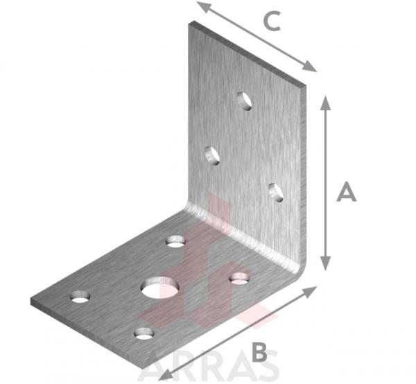 Планка ъглова равнораменна 90х90х65х2.5