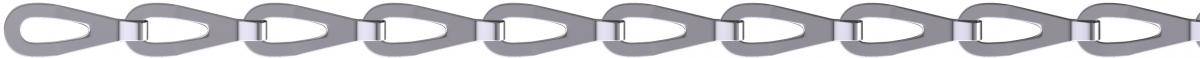 Декоративна верижка никелирана 0.4мм