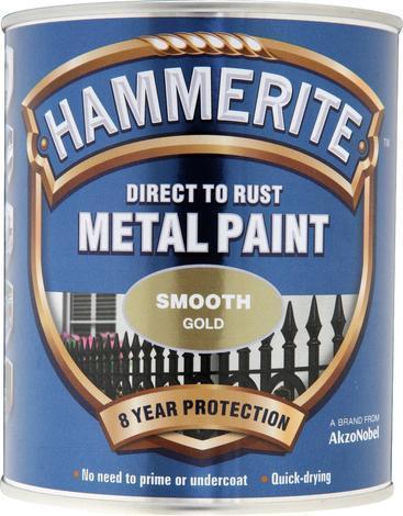Боя за метал Hammerite 0.75л, злато гланц