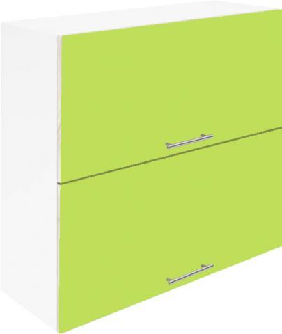 Крафт G14 горен с две врати клапващи 90см, зелен гланц