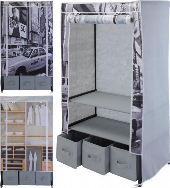 Текстилен гардероб с 3 чекмеджета