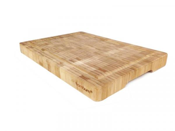 Бамбукова дъска за рязане, голяма дебела