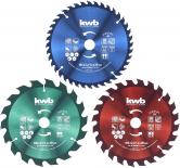 Комплект циркулярни дискове Ф165мм 3бр KWB