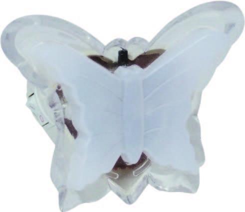 Нощна лампа Butterfly LED розова