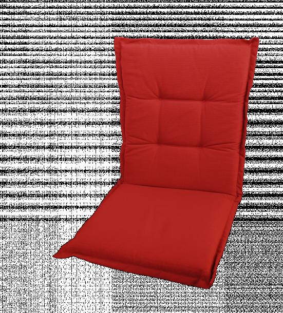 Възглавница ниска облегалка Texas Loneta Red