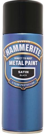 Спрей Hammerite 0.4л, черен сатен