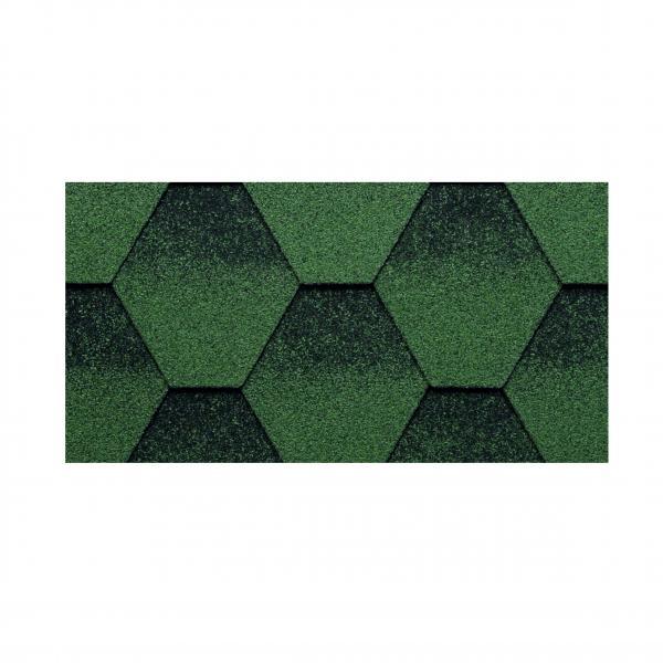 Битумни керемиди  KЕRABIT К, шестоъгълни, зелени