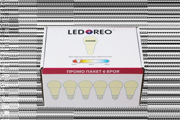 LED крушка 10W E27 3000K  - пакет 6 бр