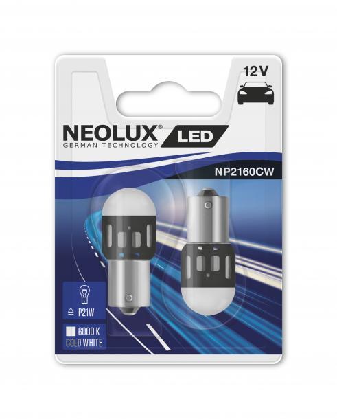 Aвтo лампа Neolux LED P21 1.2W 12V 2бр
