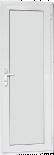 Алуминиева врата за баня 68/198см дясна бяла
