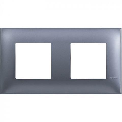 Рамка двойна син металик Bticino
