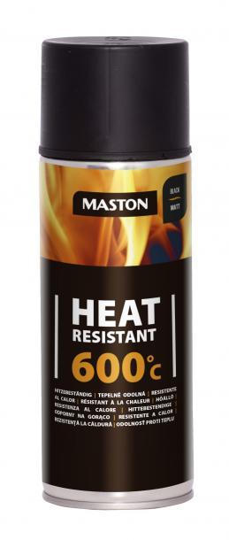 Спрей боя Maston +600°C 0.4л, черно