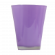 Стъклена кашпа 14.5 см лилава 2