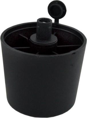 Стъпка регулираща PVC 44мм. черна