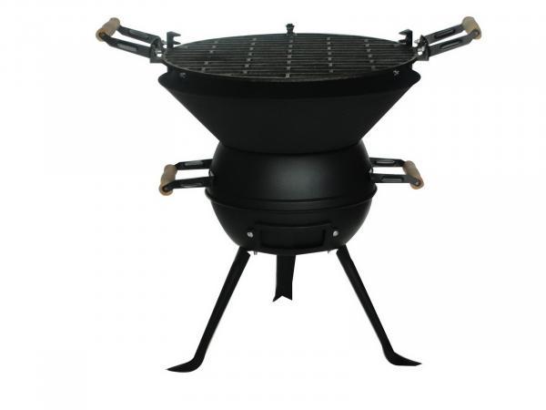 Чугунено барбекю ф35.5см, със стойка от ковано желязо