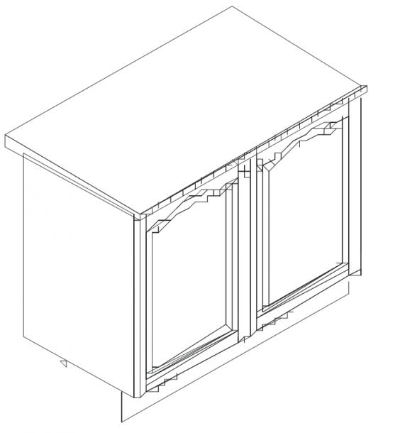 Талпи - долен шкаф с две врати, 100х60х89