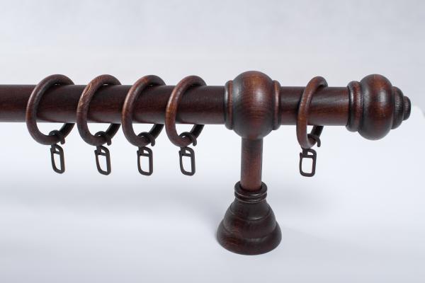 Корниз ф28 модел 1 тъмен орех 1.20 м. Еднорелсов