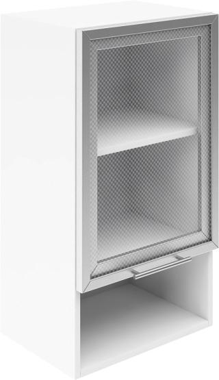 Крафт G4  горен с една витрина и ниша 45см