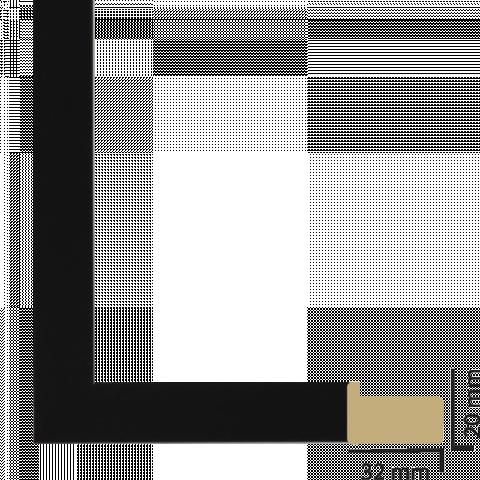 Рамка с паспарту дърво 30х40 см черно