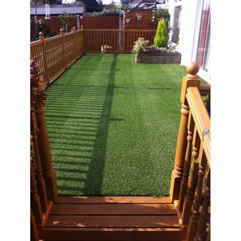 Изкуствена трева Preston, зелена 3