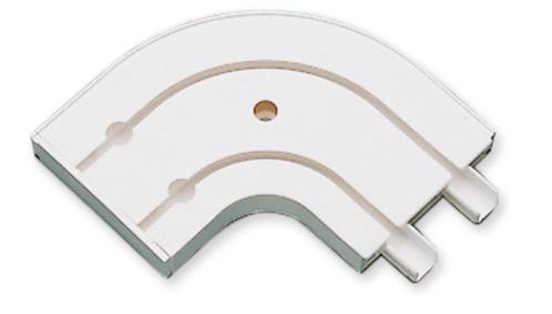 Аксесоар ъгъл 2-канален бяло