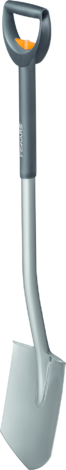 Права заострена лопата с телескопична дръжка Fiskars